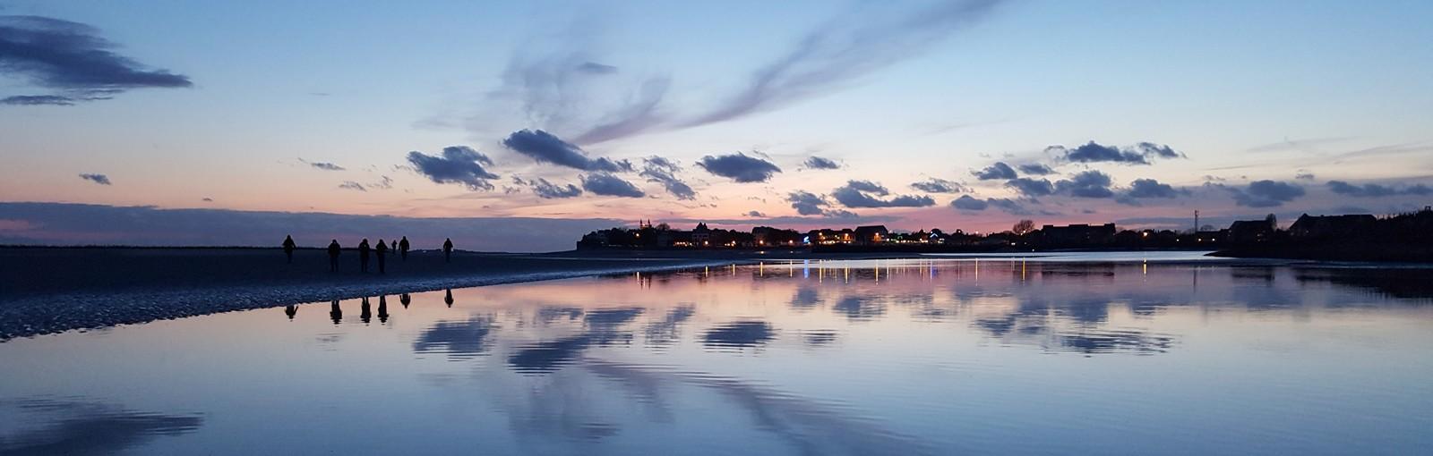 Baie de Somme - coucher de soleil