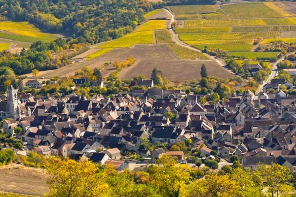 Village au milieu des vignes