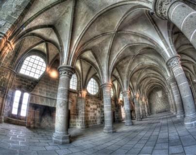 """Abbaye du Mont-Saint-Michel - La """"Salle des Chevaliers"""""""